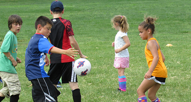 Little Kids Playing Soccer